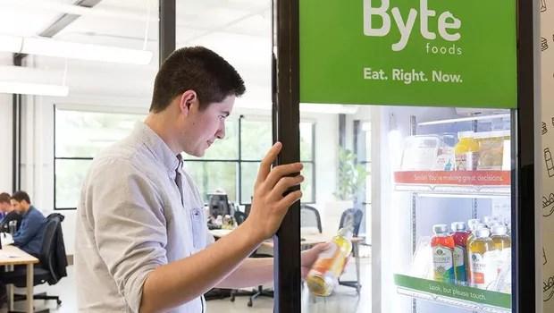 Vending machine da Byte (Foto: Divugação)