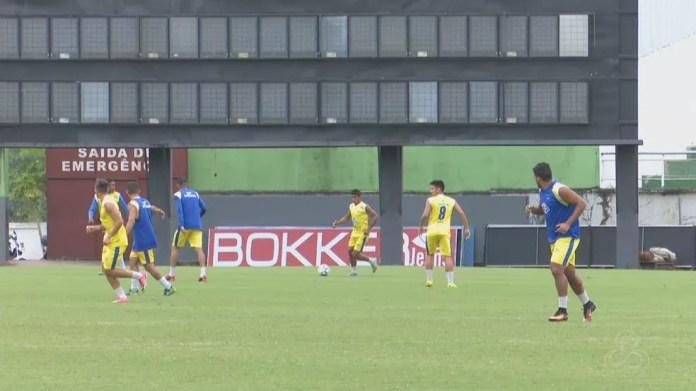 Atlético-AC treinou no estádio Florestão, nesta sexta-feira (8) (Foto: Reprodução/Rede Amazônica Acre)
