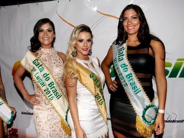 Valkiria, do Amapá, Fran, do Rio Grande do Sul, e Madelayne, de Pernambuco (Foto: Celso Tavares)
