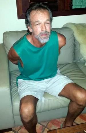 Americano foi detido dentro de um condomínio (Foto: Daniel Costa/G1)