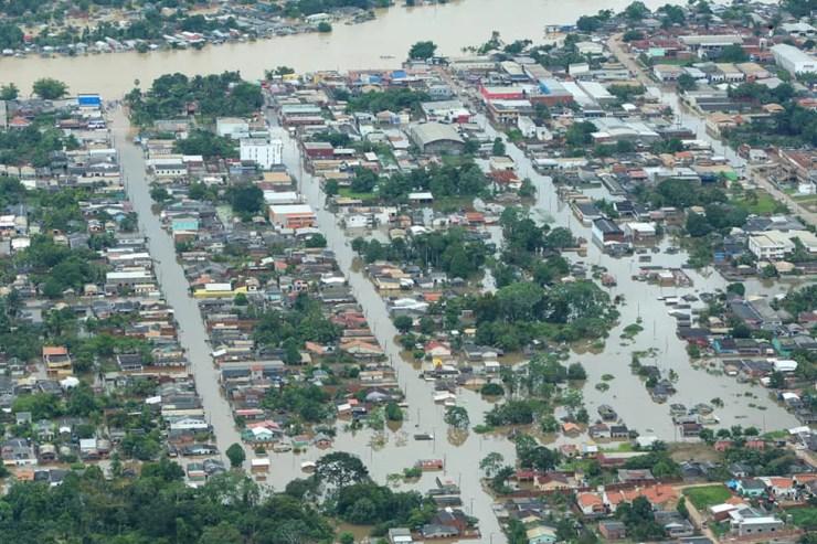 Acre tem mais de 118 mil atingidos pela cheia dos rios — Foto: Marcos Vicentti/Arquivo pessoal