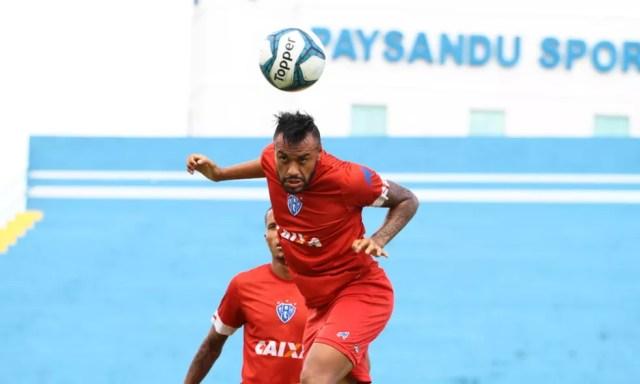 Cassiano chega para brigar por uma posição no ataque azulino — Foto: Fernando Torres/Ascom Paysandu