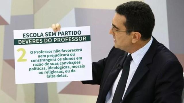 Para Miguel Nagib, fundador do ESP, nem professor nem alunos devem ter liberdade de expressão em sala — Foto: Miguel Felix/Câmara dos Deputados