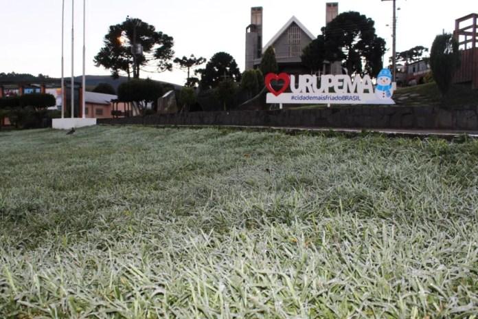 Início da manhã no Centro de Urupema — Foto: Marleno Muniz/Prefeitura de Urupema/Divulgação