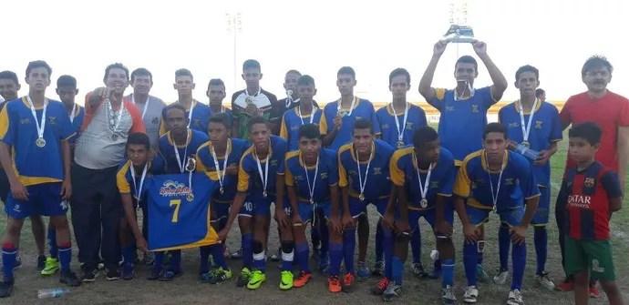 Pedro Velho campeão Taça RN Futebol Escolar (Foto: Divulgação/SEEL)