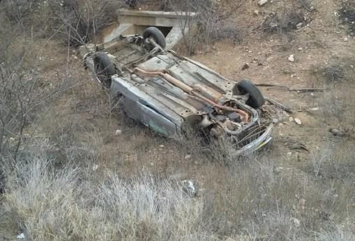 Motorista morreu após capotamento na BR-226, na região Seridó potiguar (Foto: PRF/Divulgação)