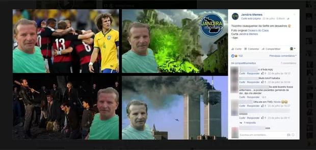 Zé Carlos ganhou memes nas redes sociais (Foto: Reprodução/Facebook)