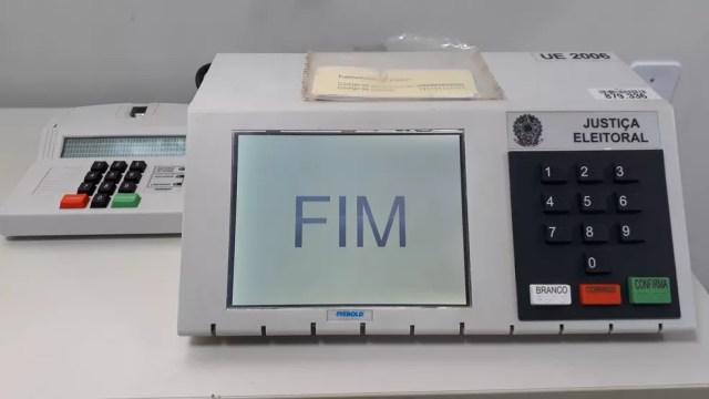 Urna eleitoral (Foto: Magda Oliveira/ G1)