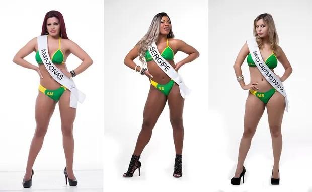 Mel Maia, Miss Bumbum Amazonas / Daiana Oliveira, Miss Bumbum Sergipe / Nathália Mendes, Miss Bumbum Mato Grosso do Sul (Foto: MBB / Divulgação)