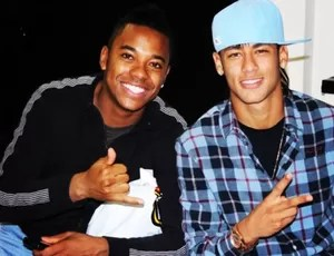 Futuro alvo do Santos, Robinho posta foto com Neymar: 'meu parça' (Foto: Reprodução/Instagram)