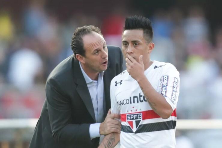 São Paulo teve ídolo máximo Rogério Ceni como treinador por quase quatro meses — Foto: Daniel Teixeira/Estadão Conteúdo
