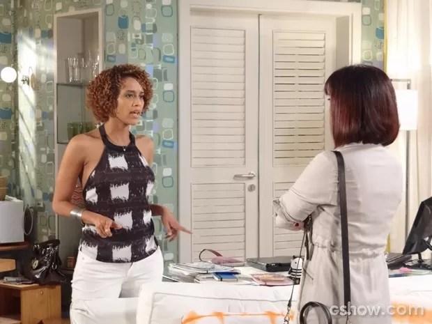 Débora vai até a casa de Verônica (Foto: Geração Brasil/ TV Globo)