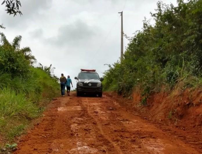 Suspeito morava às margens de uma vicinal de difícil acesso em Rurópolis — Foto: Polícia Civil de Rurópolis/Divulgação