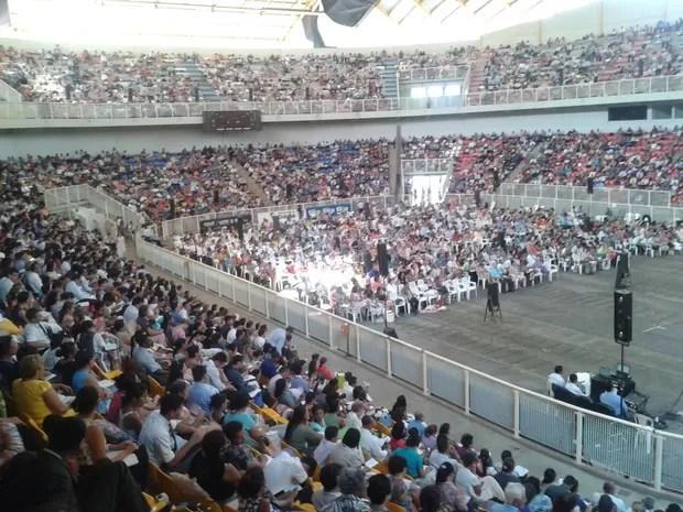 Organização espera reunir 8 mil pessoas nos três dias de congresso (Foto: Belmiro Dias/ TVCA)