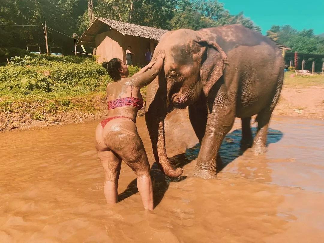Tabria Majors durante viagem pela Tailândia (Foto: Reprodução/Instagram)