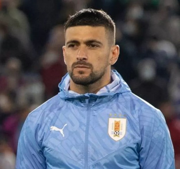 Arrascaeta lesionou a coxa em jogo do Uruguai — Foto: Reprodução