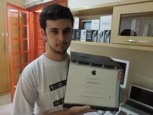 Após prova, ele conseguiu certificado de técnico (Foto: Carlos Dias/G1)