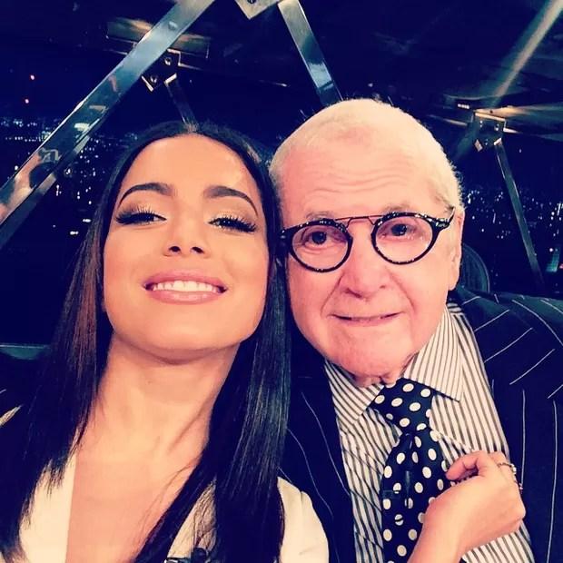 Anitta e Jô Soares  (Foto: Instagram / Reprodução)