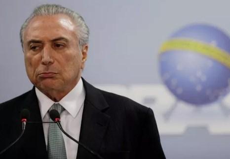 Presidente Michel Temer faz pronunciamento no Palácio do Planalto (Foto: Ueslei Marcelino/Reuters)
