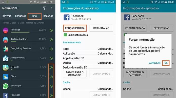 Encerre aplicativos e funções que estão drenando a bateria do Android (Foto: Reprodução/Barbara Mannara)