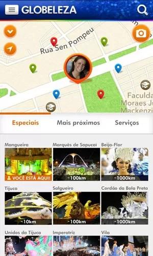Aplicativo Globeleza mostra principais blocos, escolas de samba e atrações mais próximas. (Foto: Divulgação)