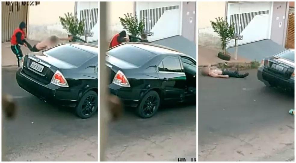 Agredido em roubo a carro queria impedir que assaltantes levassem remédio de alto custo do filho em São Carlos — Foto: Reprodução/EPTV