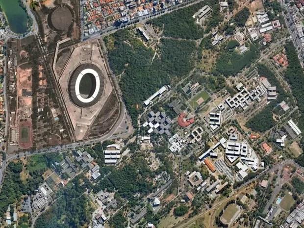 Mineirão, em Belo Horizonte, em foto feita em 26 de agosto de 2013 (Foto: Google Earth)