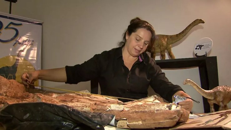 A paleontóloga e diretora de museu em Monte Alto, Sandra Tavares (Foto: Reprodução/EPTV)