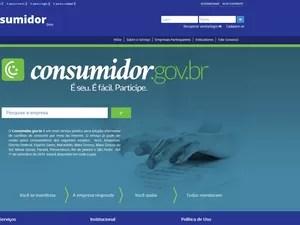 Governo lança site para reclamações de consumidores junto a empresas (Foto: Reprodução)