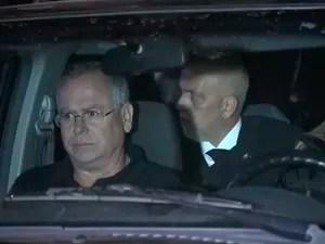 Juiz Amaury de Lima e Souza, suspeito de envolvimento com tráfico, chega a BH. (Foto: Reprodução/TV Globo)