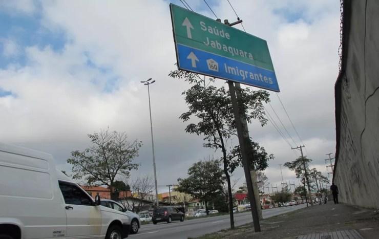 Avenida dos Bandeirantes, Zona Sul de São Paulo — Foto: Fabiano Correia/G1