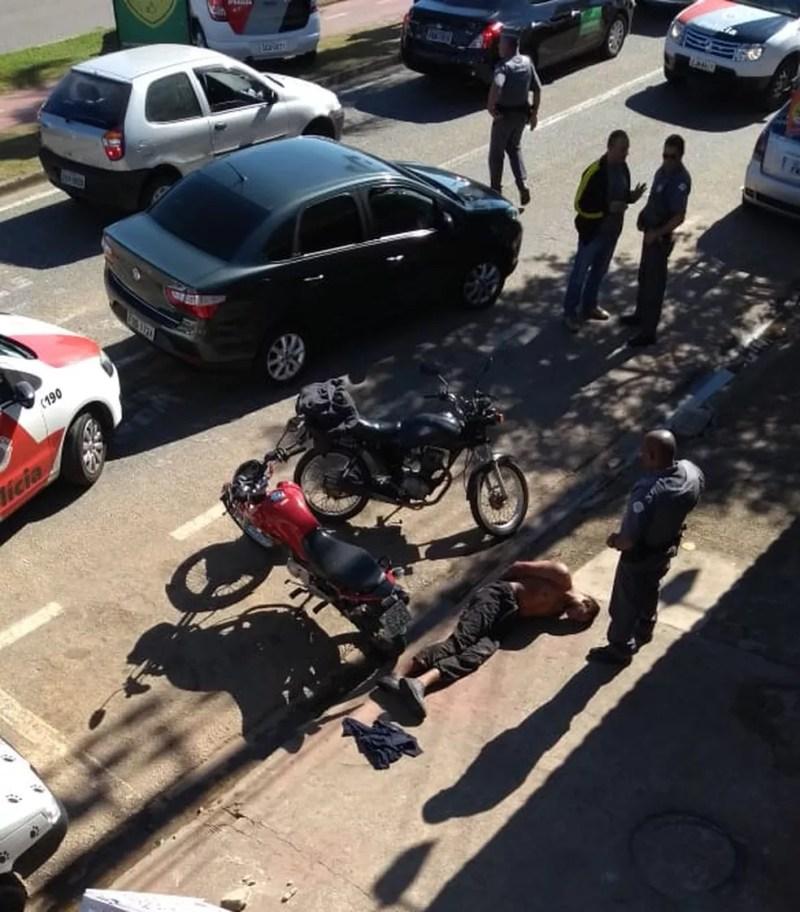 Suspeito de roubo foi baleado por policial de folga em Sorocaba (Foto: Arquivo pessoal)
