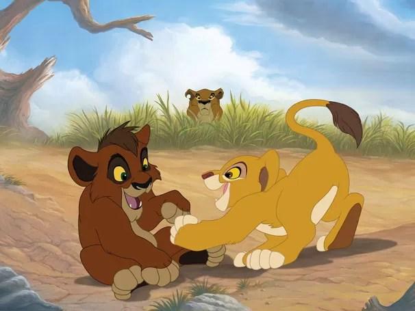 Kiara e Kovu se conhecem quando crianças e viram grandes amigos (Foto: Divulgação / Disney)