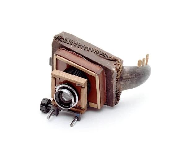 Chifre foi usado para criar máquina fotográfica diferente (Foto: Divulgação/tonk.ch)