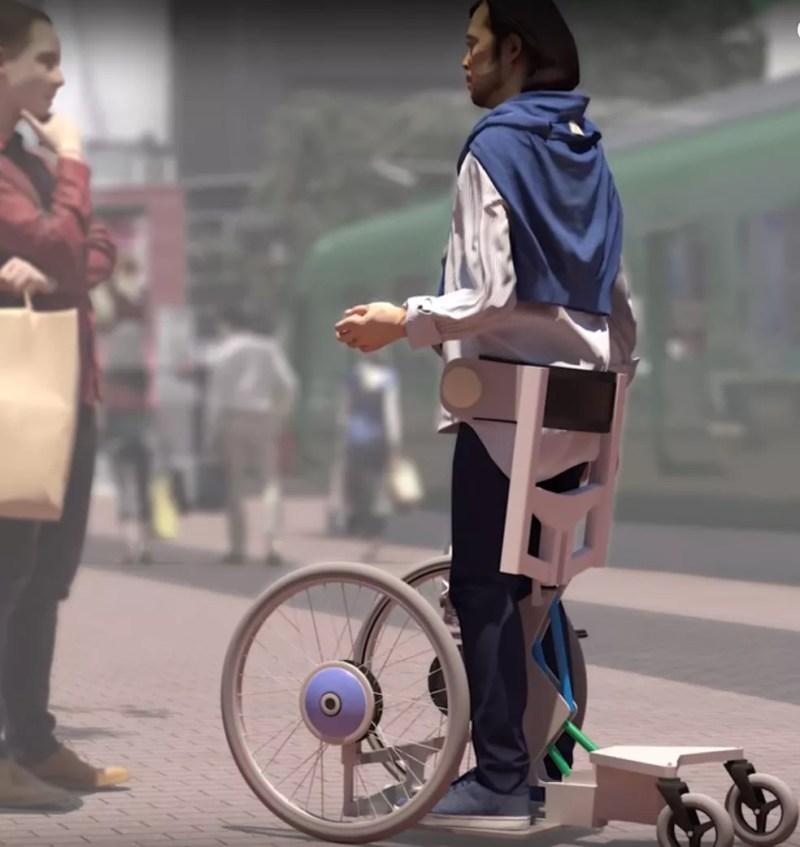 Qolo, dispositivo que reproduz um exoesqueleto para deficientes — Foto: Reprodução/Team Qolo