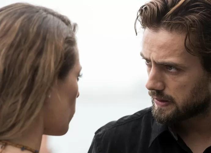 Felipe perde a paciência com Melissa (Foto: Raphael Dias/Gshow)