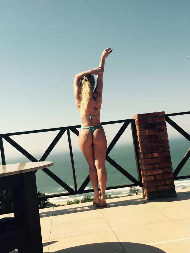 Natalia Casassola curte férias (Foto: Arquivo Pessoal)