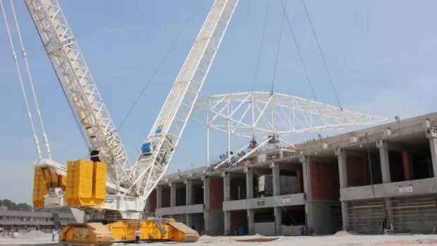 Arena Corinthians obras (Foto: Divulgação)