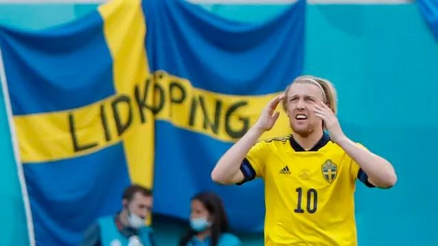 Forsberg comemora gol da Suécia