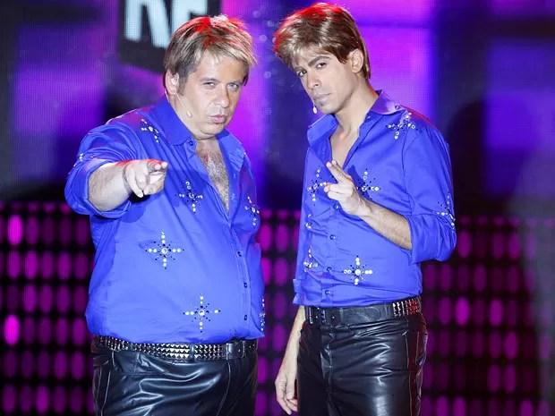 Leandro Hassum e Marcius Melhem são os Fabians da vez (Foto: Cheias de Charme / TV Globo)