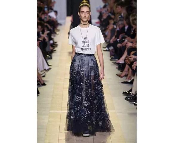 A marca de Maria Grazia Chiuri em seu trabalho na Dior (Foto: Imaxtree)