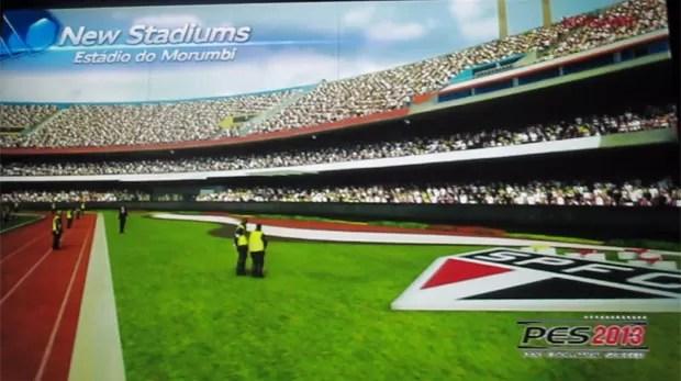 Konami afirma que tentou mostrar todos os detalhes dos estádios brasileiros no game de futebol (Foto: Gustavo Petró/G1)