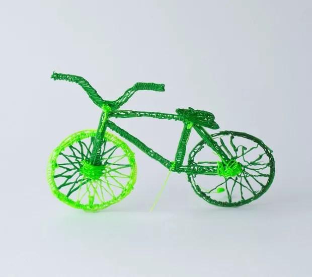 Bicicleta pronta feita a partir da caneta 3Doodler Creater+ (Foto: Reprodução/ Mashable)
