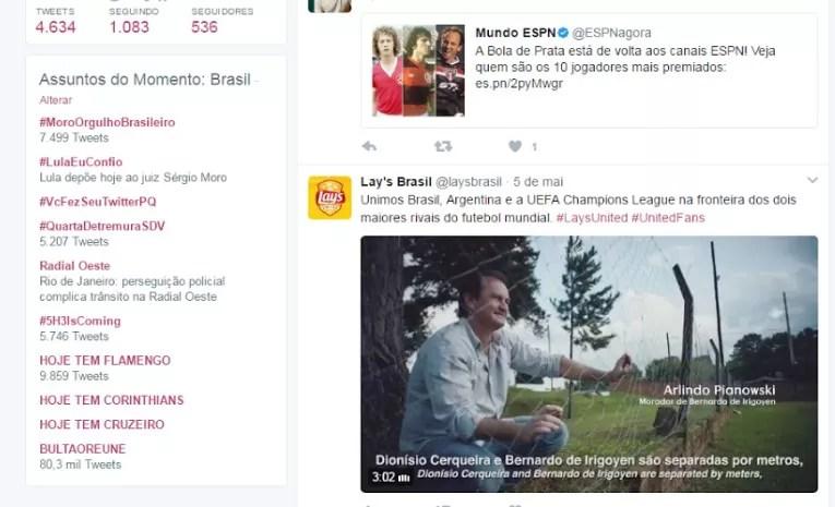 Lula e Moro disputam prevalência de comentários nas redes sociais