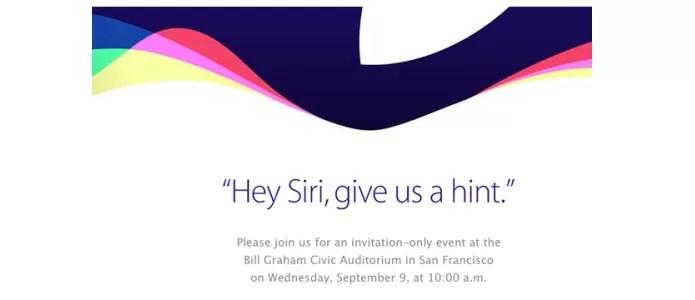 Convite do evento enviado à imprensa pela Apple (Foto: Reprodução/9to5Mac)
