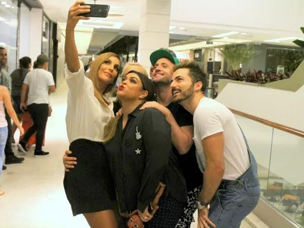 Ivete Sangalo, Xuxa, Junno Andrade, Preta Gil, Paulo Gustavo e Thales Bretas (Foto: Daniel Delmiro/ Ag. News)