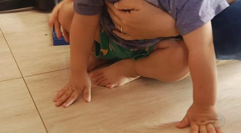 Criança chegou a ser internada na Santa Casa depois de desmaiar — Foto: Reprodução/TV TEM