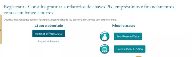 Consulta a contas em banco — Foto: Reprodução/Banco Central