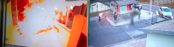 Porteiro estava trabalhando em Teresópolis, RJ, quando foi surpreendido pelo agressor (Foto: Divulgação/Polícia Militar)
