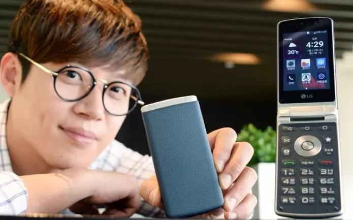 lg-flip-smartphone (Foto: Smartphone de flip da LG tem Android atualizado e teclado físico (Foto: Divulgação))